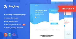 4 to a page template magicay business html landing page template themesed free best