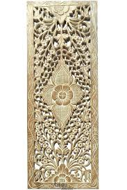 fl wood carved wall panel hanging home decor decorative contemporary white whitewash