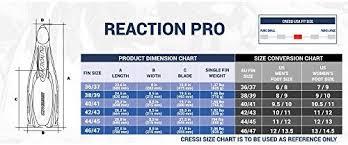Cressi Reaction Fins Size Chart Cressi Reaction Pro Fins W Bag Yellow W Bag Us 5 6 Uk