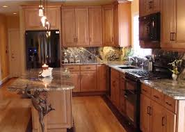 Kitchen With Black Appliances, Glazed Maple Cabinets, Gray Marble  Countertops\u2026 Pinterest