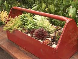upcycled container gardens diy