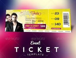 event ticket template free 115 ticket templates word excel pdf psd eps free premium