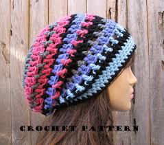 Crochet Patterns For Beginners Best Crochet Hat Slouchy Hat Crochet Pattern PDFEasy Great For