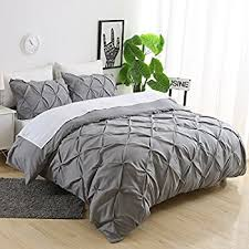 pinch pleat duvet cover. Fine Duvet Ucharge Unique Pinch Pleat Pintuck Duvet Cover Set3 Pieces Decorative  Stylish Brushed Microfiber Bedding Throughout C