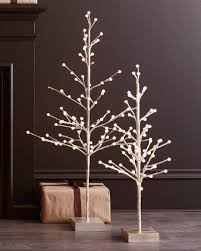 Shimmering LED Trees, Set of 2 by Balsam Hill