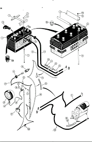 Ponent electrical starter wiring diagram standards parts for case 450b crawler tractor motor rear battery to