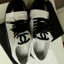 chanel tennis shoes. chanel shoes - channel black and white tennis chanel