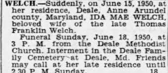Obituary for IDA MAE WELCH - Newspapers.com