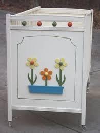 retro baby furniture. 1970s retro child line white baby crib with orange and by gremlina 25000 furniture