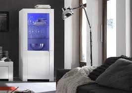 modern high gloss white 2 door display cabinet opt led lighting thumbnail