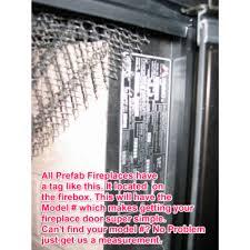 replacement glass doors for heatilator fireplaces