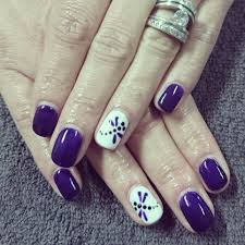 Purple Nails with dragonfly | Romantique Nails | Pinterest ...