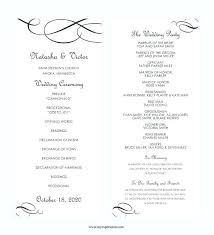 wedding party program templates sample wedding reception program template catholic without
