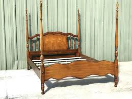 Wood Canopy Bed Frame Four Poster Beautiful Solid Queen Full Size ...