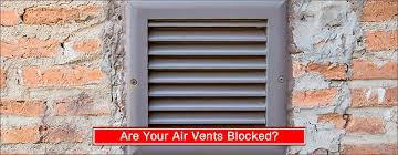 are your outside air vents blocked