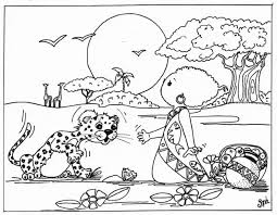 Leopard Coloring Page Animals Town Animals Color Sheet Leopard