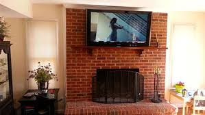 x tech landing page for great mounting tv over brick fireplace