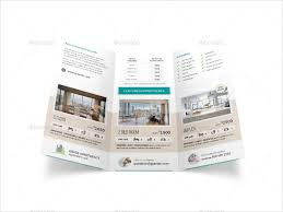 apartment brochure design. Apartment Real Estate Trifold Brochure Design E