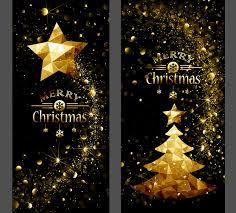 Golden Christmas Dream Vertical Banner Vector Free Download