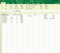 Excel Grade Tracker How To Heres The Format For Study