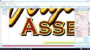 Youtube Pe Design 10 Pe Design 10 Lesson 20 Text Hand Digitizing Serif