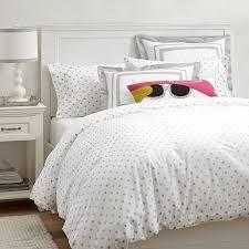 interior metallic dottie duvet cover sham pbteen beautiful girls room bedding staggering 4 girls