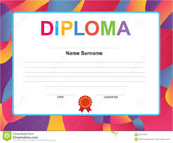 Kids Certificate Border Kids Diploma Certificate Background Design Template Stock