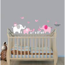safari nursery wall decals with elephant decals for kids
