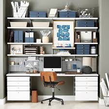 wall shelves for office. white u0026 platinum elfa dcor office wall shelves for i