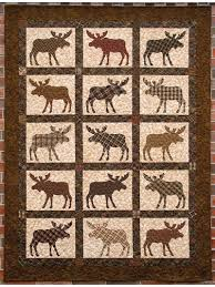 Applique Lap Quilt Patterns - Here Comes the Moose! Quilt Pattern & Here Comes the Moose! Quilt Pattern Adamdwight.com