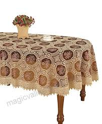 simhomsen vintage burdy lace tablecloth oval embroidered table linen oval 60 by 84 inch