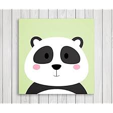 cute little animals nursery wall decor baby room canvas art 11 w x 11 h panda  on panda canvas wall art with panda wall art amazon