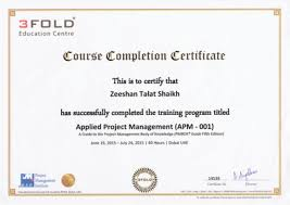 Certificate Of Completion Training Awesome PMP Training Certificate R
