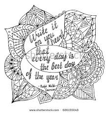 Quote Coloring Pages Page Motivational Adult Stock Vector