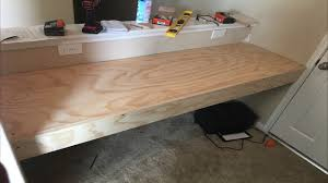 diy how to build a floating desk 4k