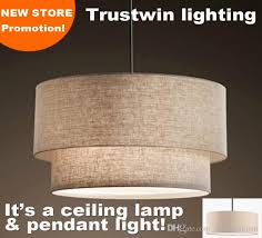 home design chandelier with fabric shades flax canvas linen ligen shade drum shape led pendant with