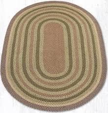 c 324 olive burdy gray oval braided rug 6x9