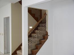 Open basement stairs Double Thickness Tread Remodelaholic Updating An Oak Stair Or Handrail To White Zelinco Finish Basement Stairs Natashamillerweb