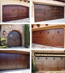 rustic garage doorsIve always loved the look of rustic wood doors stained dark with