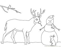 christmas card color pages christmas card coloring page deer snowman free printable pages