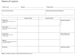 Lesson Plans Formats Elementary Free Printable Lesson Plan Templates Elementary Teachers Download
