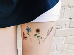 Flower Temporary Tattoos Set Of 8 Flower Tattoos Lavender Rose