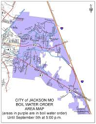 map of the jackson areas under a boil water order source city of
