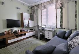 comfortable-teen-bedroom-with-grey-sofa-bed-and-grey-pillow-wooden-tv-stand-and-storage-desk-and-grey-green-rug  | DWEEF.COM - Bright and Attractive Interior ...