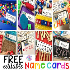Free Printable Pocket Chart Cards Free Editable Name Cards To Teach Little Learners Their Name