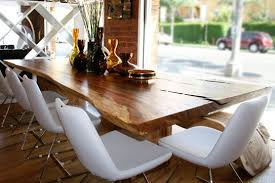 natural wood slab dining tables take em or leave em inmod modern furniture