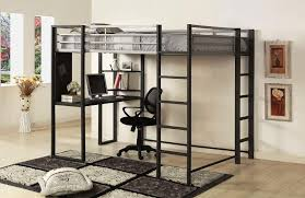 image of loft bed with desk
