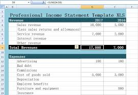 excel income statement professional income statement template excel xls free excel