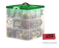 Snapware / Paksh Christmas Plastic Ornament Storage Container 3 Stackable Snap Together Box Trays http Pin by Fiver Market on Store   Holiday storage, Storage,