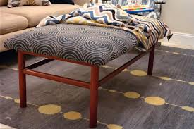after dinner design d i y tutorial how to recover an ottoman or turn coffee table into s